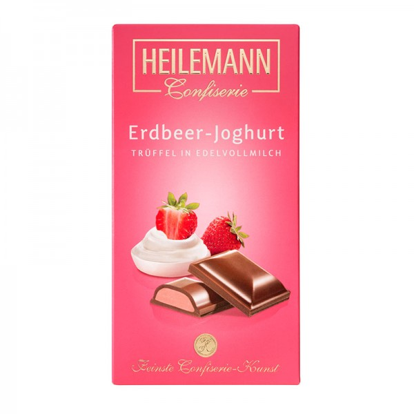 Erdbeer-Joghurt Trüffel in Edelvollmilch-Schokolade, 100g