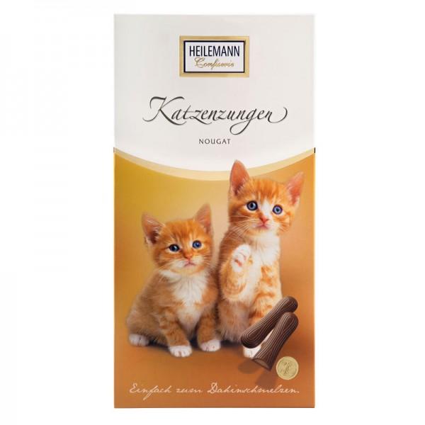 Katzenzungen gefüllt mit Nougat, 75 g