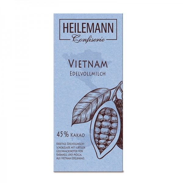 Ursprungs-Schokolade Vietnam 45% Edelvollmilch, 80g