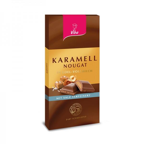 Nougat-Tafelschokolade Karamell, 100g