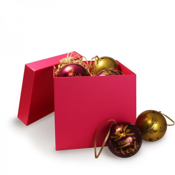 Weihnachtsbaumkugeln in Geschenkbox, 240g