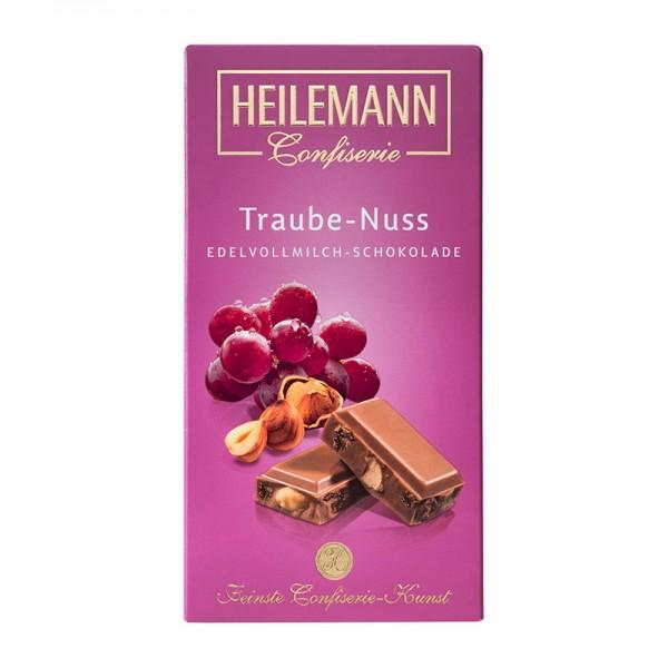 Heilemann Traube-Nuss Edelvollmilch-Schokolade, 100 g