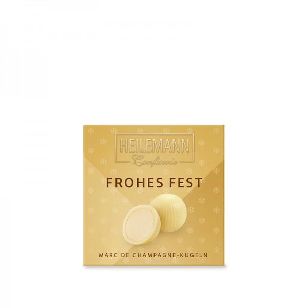 """""""Frohes Fest"""" Marc de Champagne Kugeln, 75g"""
