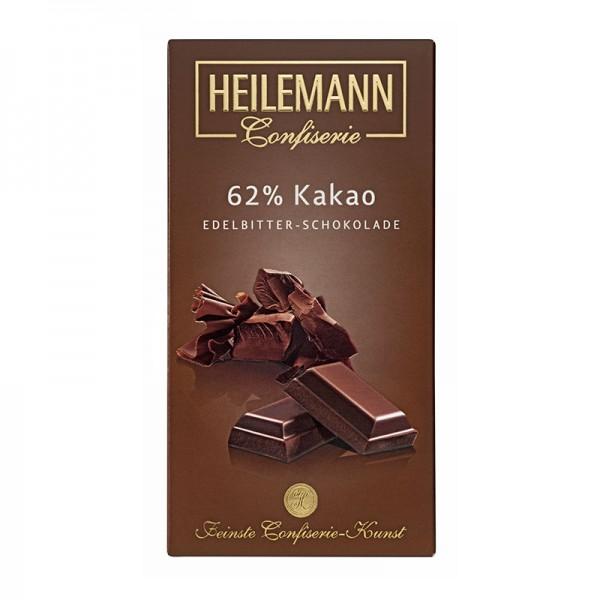 Heilemann 62% Kakao Edelbitter-Schokolade, 100 g