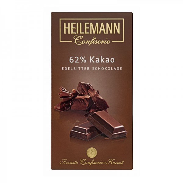 62% Kakao Edelbitter-Schokolade, 100g