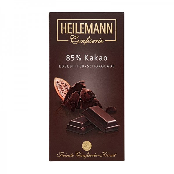 85% Kakao Edelbitter-Schokolade, 100g