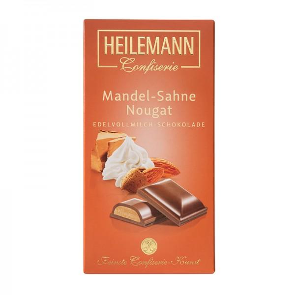 Mandel-Sahne-Nougat in Edelvollmilch-Schokolade, 100g
