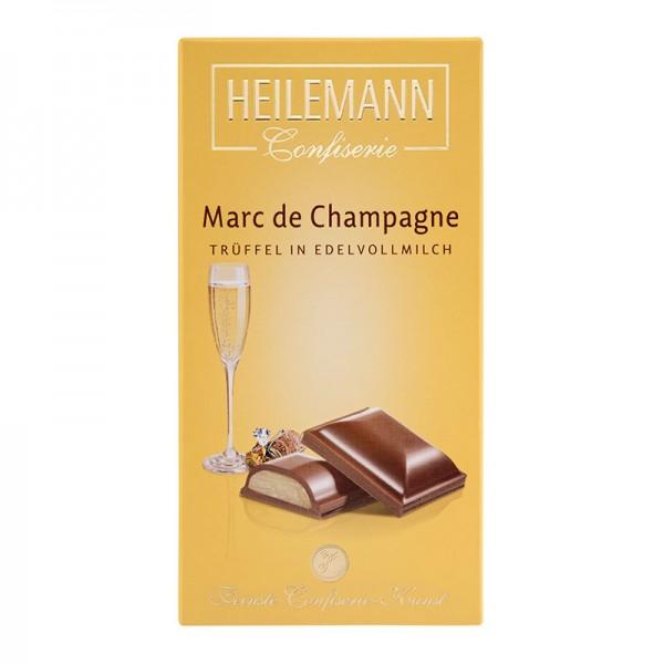 Marc de Champagne-Trüffel Edelvollmilch-Schokolade, 100g