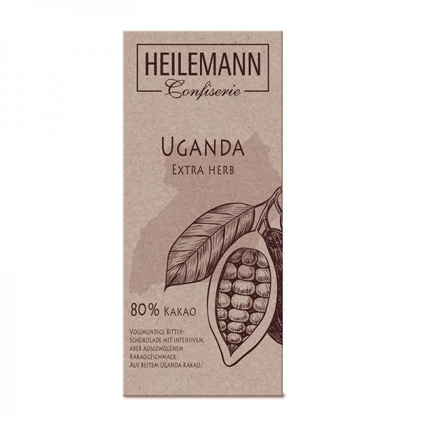 Ursprungs-Schokolade Uganda 80 % Extra herb, 80 g