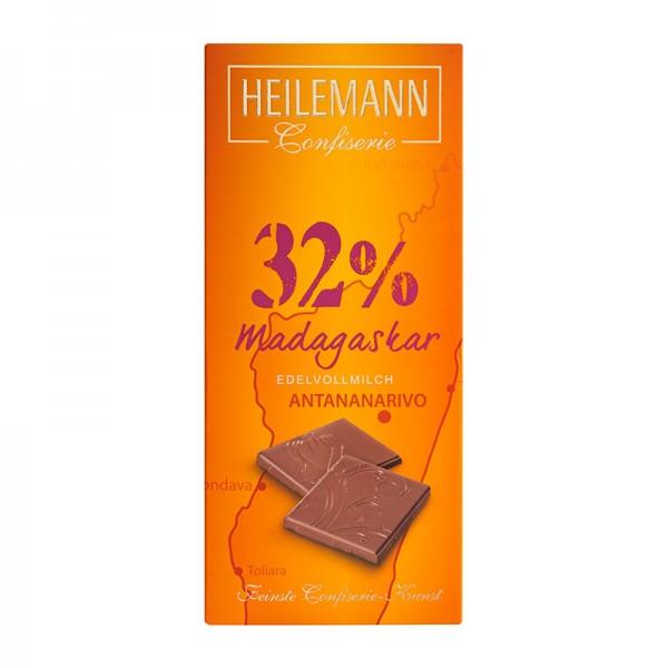 Ursprungs-Schokolade Madagaskar 32% Edelvollmilch-Schokolade, 80 g