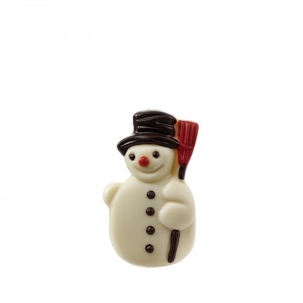 Schneemann, weiße Schokolade, 40g