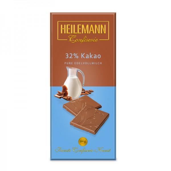 Heilemann 32% Kakao Edelvollmilch-Schokolade, 80g