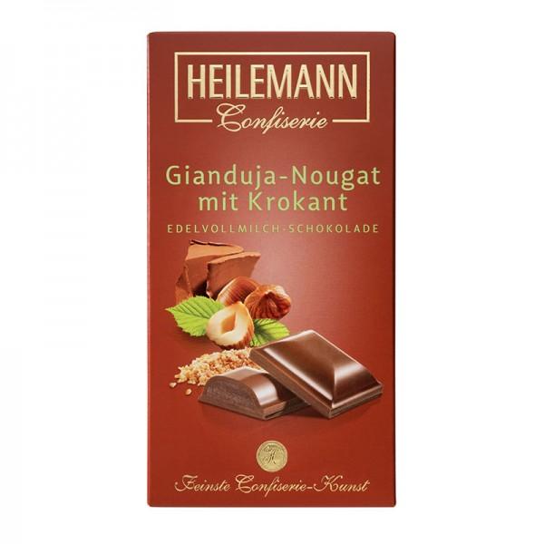 Heilemann Gianduja-Nougat mit Krokant in Edelvollmilch-Schokolade, 100 g