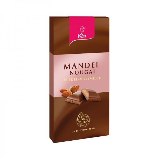 Nougat-Tafelschokolade Mandel, 100g
