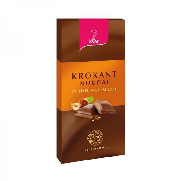 Nougat-Tafelschokolade Krokant, 100g