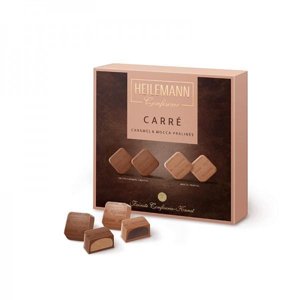 Heilemann Carré Caramel & Mocca Pralinés, 128 g