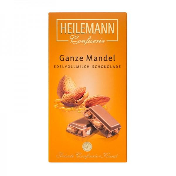 Ganze Mandel in Edelvollmilch-Schokolade, 100g
