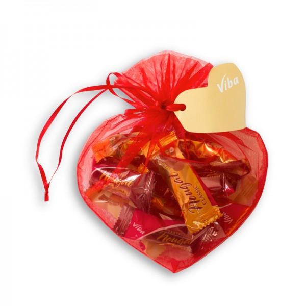 Viba Geschenkbeutel Herz groß, 120 g