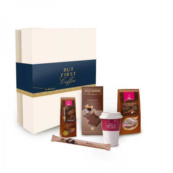 """Geschenkbox """"But first Coffee"""", 320 g"""