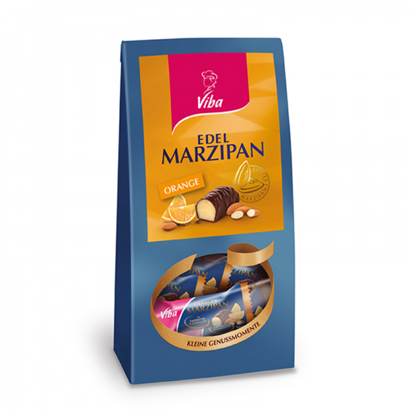 Viba Edel Marzipan Orange Mini Beutel, 125 g