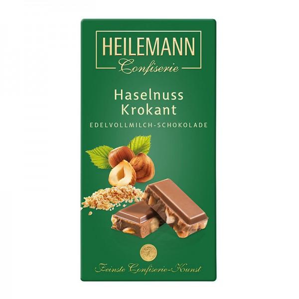 Heilemann Haselnuss-Krokant in Edelvollmilch-Schokolade, 100 g