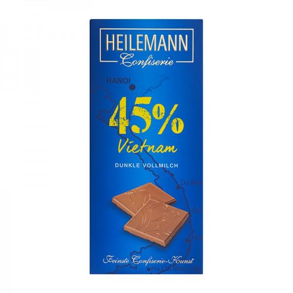 Ursprungs-Schokolade Vietnam 45% dunkle Vollmilch, 80g